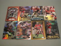 X) Lot of 26 WARRICK DUNN FOOTBALL CARDS HUGE PREMIUM BRANDS BUCCANEERS