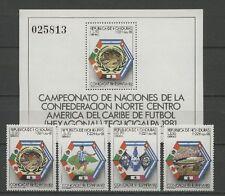 Fútbol-WM 1982, soccer-honduras - 981-984, bl.34 ** mnh