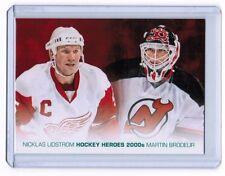 2014-15 Upper Deck Series 1 HH-78 Hockey Heroes Painting Lindstrom & Brodeur