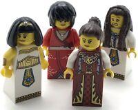 LEGO 4 NEW QUEEN MINIFIGURES CASTLE LADIES GIRLS WOMEN LION KINGDOM KNIGHT FIGS