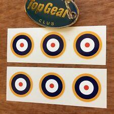 RAF ROUNDELS Scooter WW2 Aeroplane Model Car Van Stickers Decals 6 off 25mm