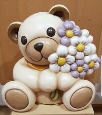 OFFERTA FLASH Thun Teddy Maxi Con Mazzo Di Fiori 40 cm Nuovo   -20%