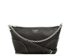 NWT GUESS Juliana Mini Crossbody Handbag Purse Black w/ chain
