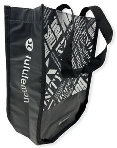 Lululemon Limited Edition Reusable Small Black/White Tote Bag
