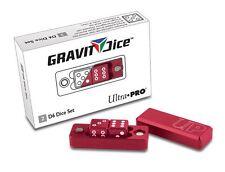 Ultra Pro Gravity Dice Crimson Red 2-Piece D6 Set 16mm Precision Machined