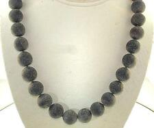 """Graduated Volcanic Ash Infused Genuine Baltic Sea Blackened Amber Necklace 18.5"""""""