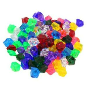 100* Fake Gems Crystal+20* Pirate Coins Treasure Children Play Toy Fun Play Set