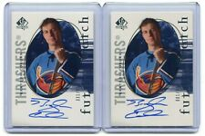 2005-06 SP Authentic 2x Future Watch Auto #/999 Braydon Coburn  #133  RC LOT