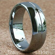 Tungsten Carbide Ring Mens Wedding Band Size 11.5