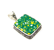 Rainbow Calcite Silver Plated Hand Carving Pendant Jewelry JC4505