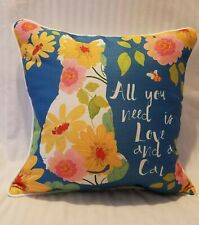 All you need is love and a cat Indoor Outdoor Patio Accent Throw Spring Pillow