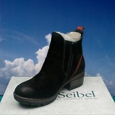 New leather comfort elastic w/zip up Ankle Boots - Josef Seibel Shoes Germany