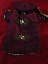 NWT East Side Collection Corduroy Toggle Dog Puppy Coat Small/Medium
