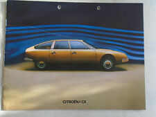 Citroen CX brochure Jan 1975 German text