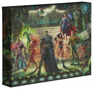 Thomas Kinkade Studios DC Justice League 8 x 10 Gallery Wrapped Canvas