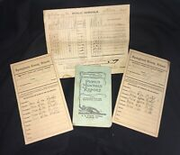 Lot of Antique Report Cards 1917-21 Spotsylvania Co & Harrisburg, Pennsylvania