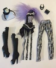Monster High Freak Du Chic Doll Clothing, Shoes & Accessories Lot For Clawdeen