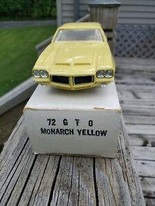 1972 GTO Monarch  Yellow With Original Box