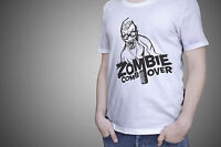 Walking Dead T Shirt  Zombie Comb Over  Funny Zombie horror halloween gift