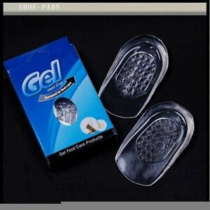 New Heel Supports Pad Cup Gel Shock Cushion Orthotic Insole Plantar Fasciitis R1