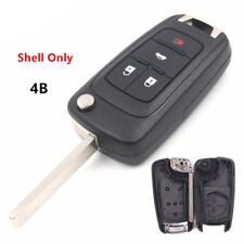 Replacement New Flip Key Shell Remote Key Case Fob 4 Button fit for CHEVROLET