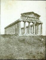 ITALIE Salerne Paestum Temple Grec de Cérès c1910, Photo Stereo Plaque Verre VR5