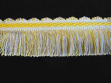 Curtain fringe trimming fabric trim edge Per METRE duck egg blue & yellow 5cm