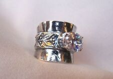 Didae...Shabool,  Israel, SS, 925  BOLD  Sparkling CZ  Size 8 Gorgeous  New!