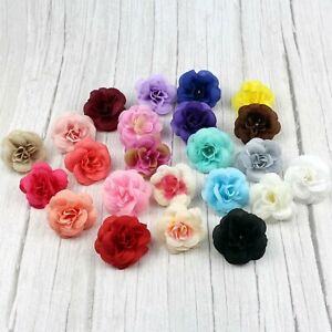 24 Color Mix 4.5cm Artificial Rose Flowers Heads Silk Wedding Wall Fake flowers