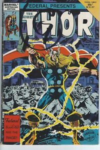 Marvel 1985 THE MIGHTY THOR #6 Australian Edition Federal #6 VG 329 330 Comic