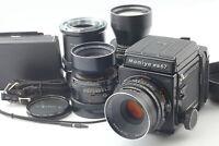 [Near MINT] Mamiya RB67 PRO S Sekor C 127mm 180mm 250mm Lens 120 Film Back JAPAN