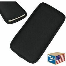 "CELL PHONE NEOPRENE CASE Black SLEEVE POUCH APPLE IPHONE 6 4.7"" GALAXY S3 S4"