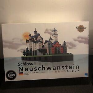 Kawada Nanoblock Schloss Neuschwanstein Castle Deluxe Edition NB-009 New Open