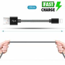 20cm Nylon USB Ladekabel Lightning kurz  für Apple iPhone Xr 8 7 6 5 iPod iPad