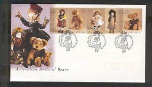 Australia  1997  FDC,  Dolls and Bears.