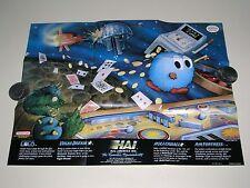 Rollerball, Vegas Dream, Lolo, & Air Fortress poster (rev 2) MINT- Nintendo NES