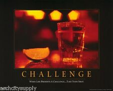 Poster: Liquor: Challenge - Take Your Shot - Free Shipping ! #3640 Rap138 A