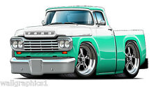 Fatcat 1959 Ford Truck Ratrod Wall Decals Stickers Graphics Man Cave Garage Deco