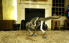 Steel Allosaurus dinosaur Large metal puzzle/kit - Over 4 ft long - RAW STEEL