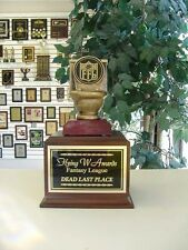Fantasy Football Loser Individual Last Place Toilet Bowl Trophy Ffl *