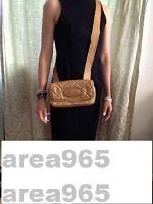 CHANEL Handbag Purse Messenger & Cross Body Shoulder  bag Beautiful Gold QUILTED