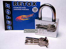 Padlock, Large Size, Extra-Security with Three 'Difficult To Duplicate' Keys