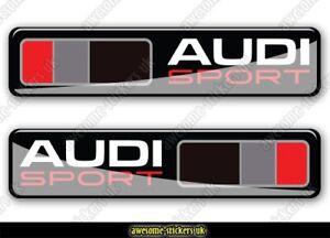 2 x AUDI flag stickers 005 decals vinyl A1 A3 A4 S1 S3 S4 SPORT