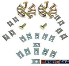 20x Land Rover Defender & Series Floor Pan Screws & Captive Spire Nuts