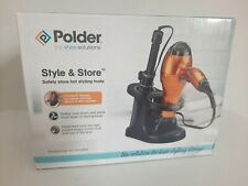 Polder Style and Store HAIRDRYER and TONGS Storage Unit holder BLACK NEW FREEPOS