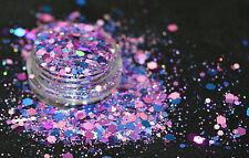 Bellissimi Glitter Mix Nail Art Viola del Cielo Per Acrilico/Gel Applicazione