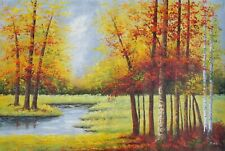 "Oil Painting handmade on Canvas Landscape 48""x72"" Inches"