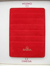 Omega Red Suede Leather Card Holder - In excellent condition & very rare!