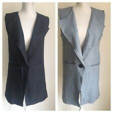 Polyester Button Regular Size Waistcoats for Women