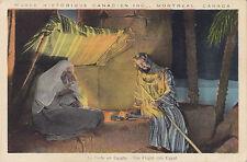 Fuite en Egypte Musee Historique Canadien MONTREAL Quebec 1930-40s PECO Postcard